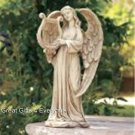 ANGEL WITH HARP STATUETTE
