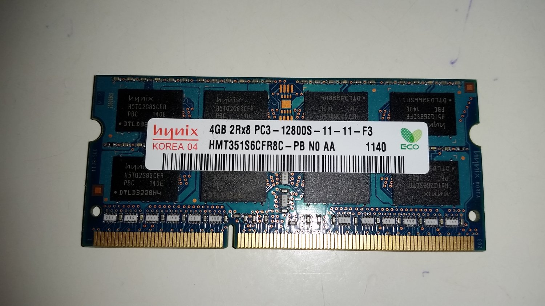 Hynix 4GB PC3 12800 DDR3 1600MHz Laptop Memory - Used