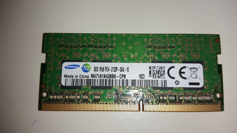 Samsung 8GB PC4 2133P DDR4 288 Pin Laptop Memory - Used