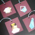 Handmade Origami clothes gift tags - set of 12