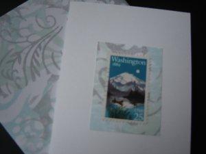 Handmade Card featuring US Stamp 2404 - 25c Washington Statehood