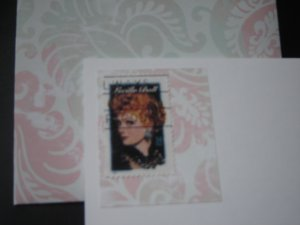 Handmade Card featuring US Stamp 3523 - 34c Lucille Ball