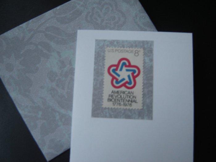 Handmade Card featuring US Stamp 1432 - 8c American Revolution