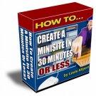 30 Minute Minisite