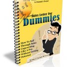 Sales Letter For Dummies