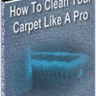 Clean Your Carpet Like A Pro