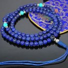 8mm Lapis A Grade Mala Prayer Beads (Free Bag!)