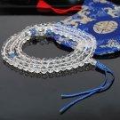 8mm Crystal Buddha Mala Prayer Beads (Free Bag!)