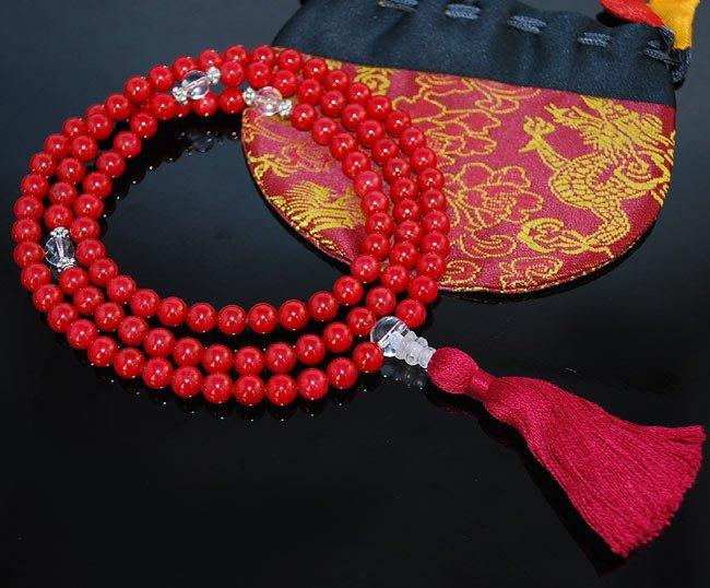 Red Coral Mala Prayer Beads
