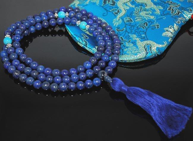 Lapis Lazuli  Mala Prayer Beads