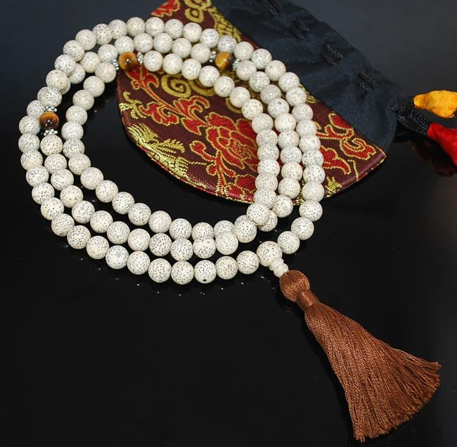 10mm Lotus Seed Mala Prayer Beads