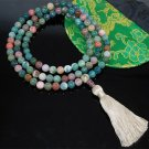 Green  Fancy Jasper Mala Beads