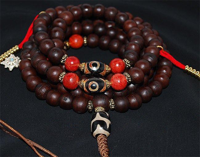 Bodhi Seed and Tibetan Dzi
