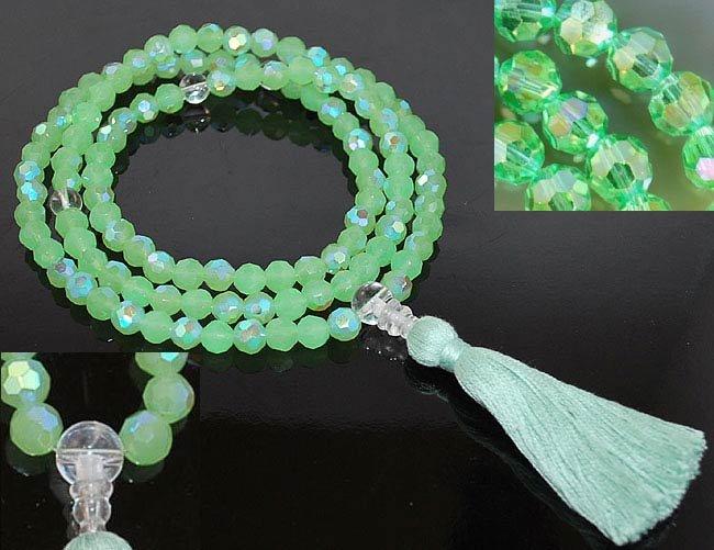 Green Tara Crystal Mala