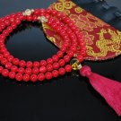 Red Coral and Citrine Mala