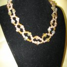 Necklace - Yellow, peach Beads