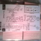For a Friend  rubber stamp set