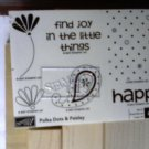 Polka Dots & Paisley Rubber stamp set