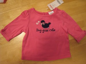 """Gymboree Tres Chic """"Dog-gone Cute"""" Poodle top shirt 3-6 mths NWT"""