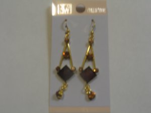 Sparkling Brown stone Studded Earrings