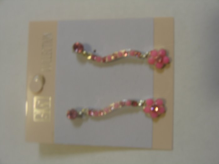 Lovely Baby Pink  Stone Earrings