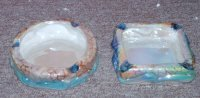 6 Dolphin Ashtrays