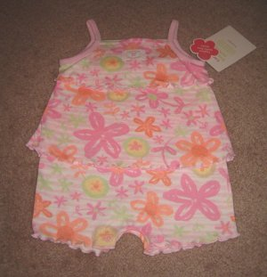 NWT *Carter's* Pink Floral Sunsuit 3mths