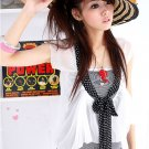 AI-2305 white 2 pcs ciffon top
