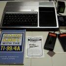 Texas Instruments TI-99/4a Computer w/35 carts +more