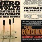 Rex Stout: Nero Wolfe - Trouble In Triplicate - 1967 pbk