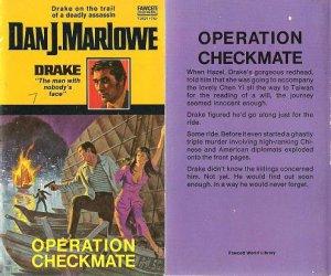 Dan J. Marlowe: Drake #7 - Operation Checkmate - 1972 pbk