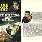 Mike Barry: The Killing Run - The Lone Wolf #13 - 1975 pbk