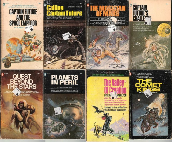 Edmond Hamilton - 7 Captain Future paperbacks
