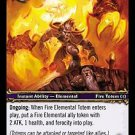 WoW TCG - Outland - Fire Elemental Totem x4 - NM - World of Warcraft