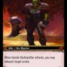 WoW TCG - Azeroth - Gartok Skullsplitter x4 - NM - World of Warcraft