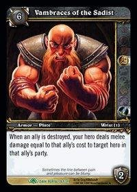WoW TCG - Dark Portal - Vambraces of the Sadist x4 - NM - World of Warcraft