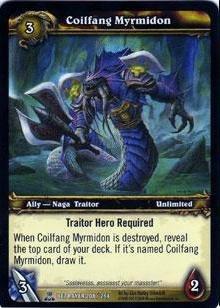 WoW TCG - Betrayer - Coilfang Myrmidon x4 - NM - World of Warcraft