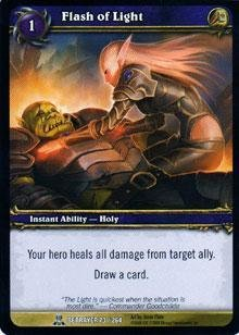 WoW TCG - Betrayer - Flash of Light x4 - NM - World of Warcraft