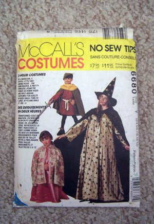 McCall's Easy 2 Hour Halloween Pattern