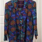 Silk Jacket & Matching Tank - Blue Purple Turquoise XS