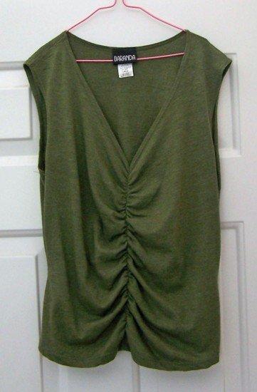 Sleeveless Top - Baranda Large Soft Fabric Heather Green