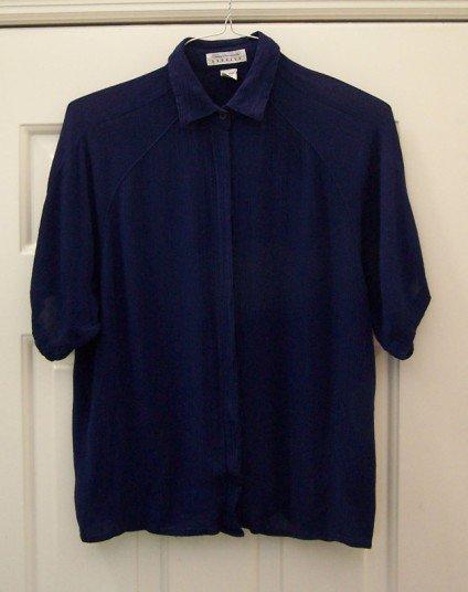 Deep Blue Small Rayon Shirt Jacket Express