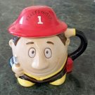 Firefighter Fireman Mug or Cup with Hat Lid