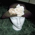 Brown Felt Flower Hat with Lotsa Style