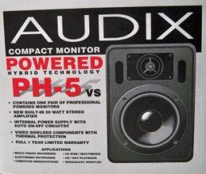 PH-5vs Audix Powered Speakers - New In Box