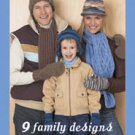 Bernat 9 Family Designs to Knit Patterns with Softee Chunky