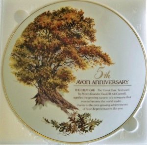 Avon 5th Anniversary The Great Oak Collectible Plate NIB