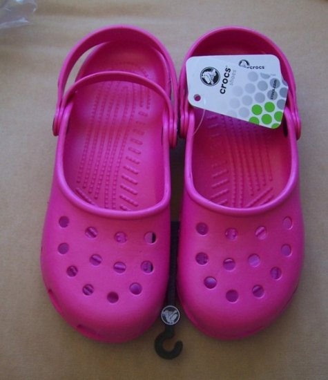 Crocs Pink NWT Size 10 Mary Jane Style Authentic