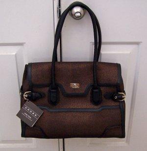 Cross Laptop Computer Bag Handbag Bronze & Black STUNNING