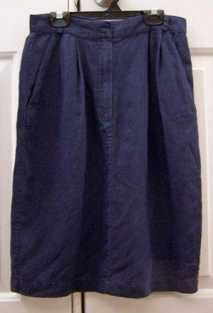 DKNY Navy Blue Linen Skirt Size 8
